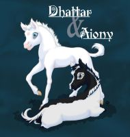 Dhattar and Aiony - fanart by Dwelian