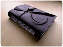 Handmade Leather Book by zhabooks