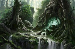 Deep fairy forest by guillaumem2