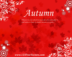 Free Autumn Background Vector by 123freevectors