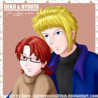 Denji and Hyouta for Aya-chan by KaroruMetallium