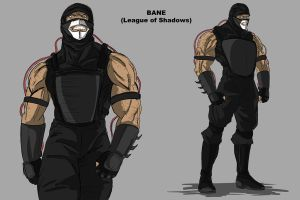 Bane with shirt under armor by darknight7