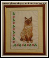 Cross Stitch  The Cat by lamu1976