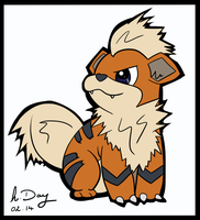 Growlithe! by hllday