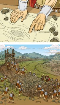 Caesar and the Battle of Alesia Page 04 Colors by JerMohler