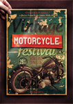Vintage Motorcycle Poster Template by TheCreativeCatDesign