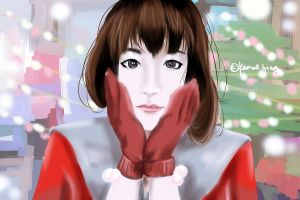 Celebrity Christmas Painting no.2: Ren Si Lu by kamei47