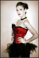 Pin-up Girl in Red II by PascalsPhotography