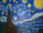 Starry night with tardis by BuffaloLamb
