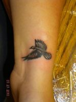 Raven Tattoo by cheshirepinky