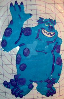 Fondant Sulley (Monsters INC Version) by InkArtWriter