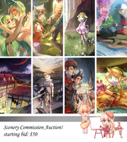 Scenery Auction || CLOSED by rainue