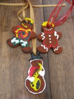 Gingerbread Ornaments by sinister7showdown