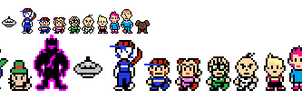 Mother styled Sprites by LukeTheeMewtwo