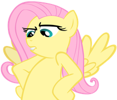 Fluttershy is not amused by Stinkehund