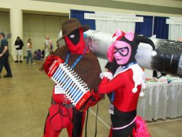 Deadpool Cheese Sandwich, Harley Quinn Pinkie Pie by RockCandy01