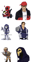 Agency X_Doodles and Chibis xD by Anko-sensei