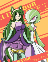 Elite Four Jesiax: Grass/Psychic Type by crab-pinches