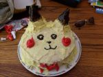 Pikachu Cake Fathers Day by rockerwolf