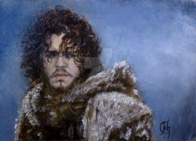 Jon Snow from Game of Thrones by davinciscousin