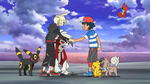 Ash and Gladion gives a Handshake by WillDynamo55