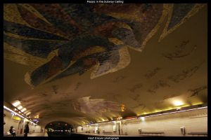 Mosaic in a Subway Ceiling by HerrDrayer