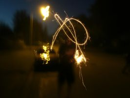 'David' With Sparkler by bpen42