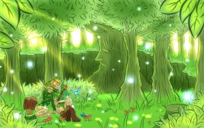 A Green Nap. by Caelumimensus