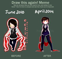 Before and After Meme - HayaMika by HayaMika
