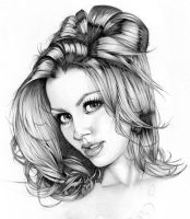 Laura Dore  Pencil Exercise by MarcoGuaglione