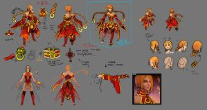 0470: Lina's Burning Lotus Set concept art by Agito666
