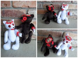 Zombie Teddy Bears by IckyDog