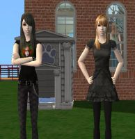 Snow911 and I as Sims by angia101