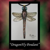 DragonFly Polymer Clay Pendant by KabiDesigns