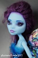 Monster high repaint custom Abbey fairy portrait by phairee004