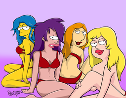 Sexy Cartoon Ladies by chiQs09