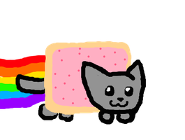 Nyan Cat 8D by EclipseTheKitteh