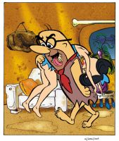 Betty Rubble and Mr Slate COLOR by RaelIAK