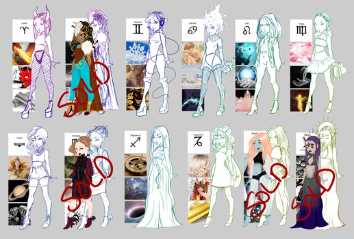 {8/12 OPEN} What the zodiac are made of - Adopts by K-enopsia