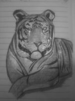 black and white tiger by Chyliethecrazy1