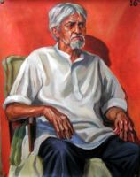OLD Man sitting on a chair by Hemali