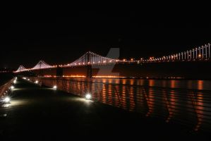 Bay Bridge Incandescent 2 by rafaelmcsilveira