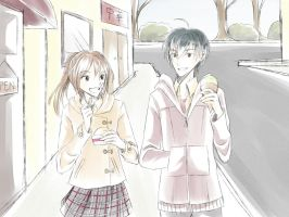 MH - Eating ice cream like bosses by ak-itsuki