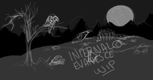 .:WIP:. Land Of Death And Sentience by InfernalEvanesce