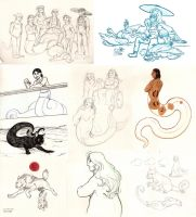 Simon's zoo doodle dump by Paperiapina