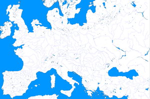 Europe Ice Age Template Map by zalezsky