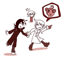 Kid and Maka : MONKEY !!! by BrambleLady