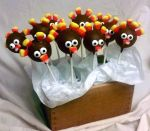 Turkey cake pops by SewAmusing