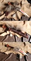 Custom wolf bone ritual knife by lupagreenwolf