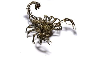 Steampunk robot Scorpion 3 by CatherinetteRings